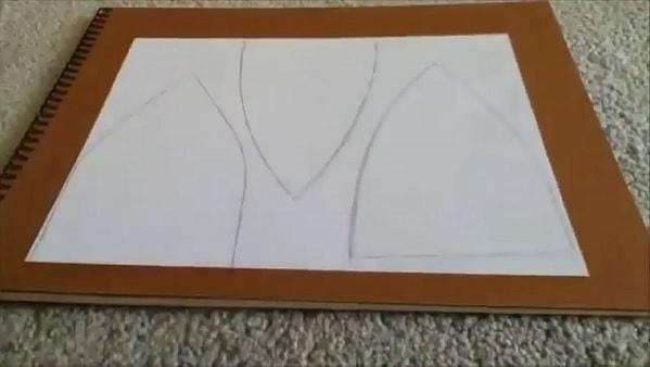 Cách làm nón lưỡi trai bằng giấy - bước 1