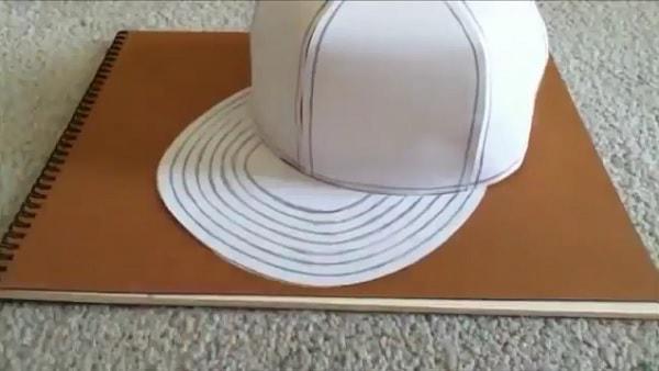Cách làm nón lưỡi trai bằng giấy - bước 10