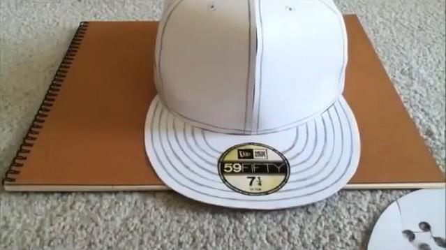 Cách làm nón lưỡi trai bằng giấy - bước 14