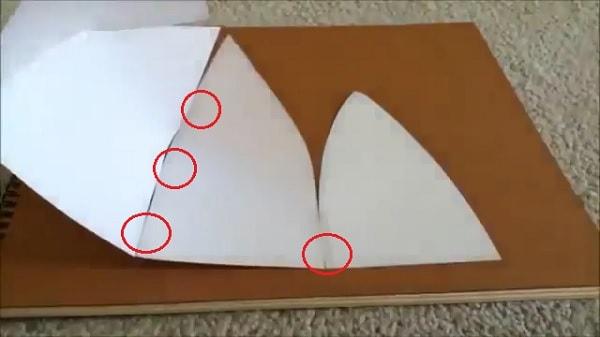 Cách làm nón lưỡi trai bằng giấy - bước 5