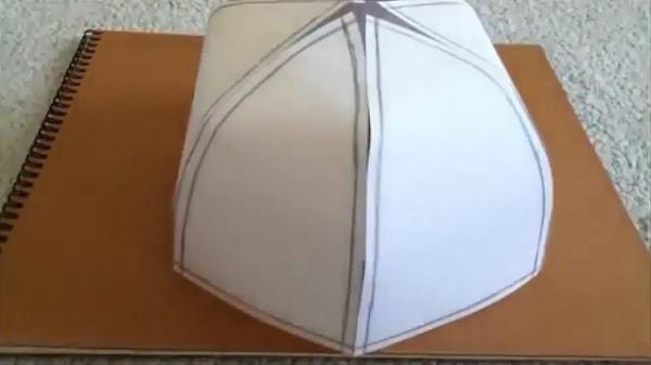 Cách làm nón lưỡi trai bằng giấy - bước 6