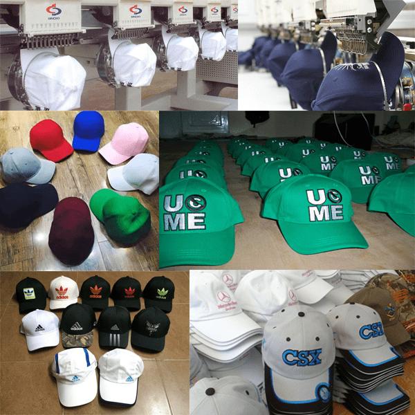xưởng mũ nón Blue Sea